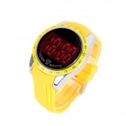 LUWEITE 6006 Fashion Men's Stainless Steel Digital Wrist Watch - Yellow (1 x CR2032)