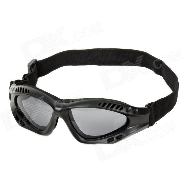SW3065 Outdoor Tactic Sprots / Exercise Protective Goggles - Black sw3069 outdoor tactic sports exercise protective goggles black