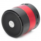 F-30698 Mini Portable 2-Channel Bluetooth v3.0 Speaker w/ Microphone / FM / TF - Red + Black