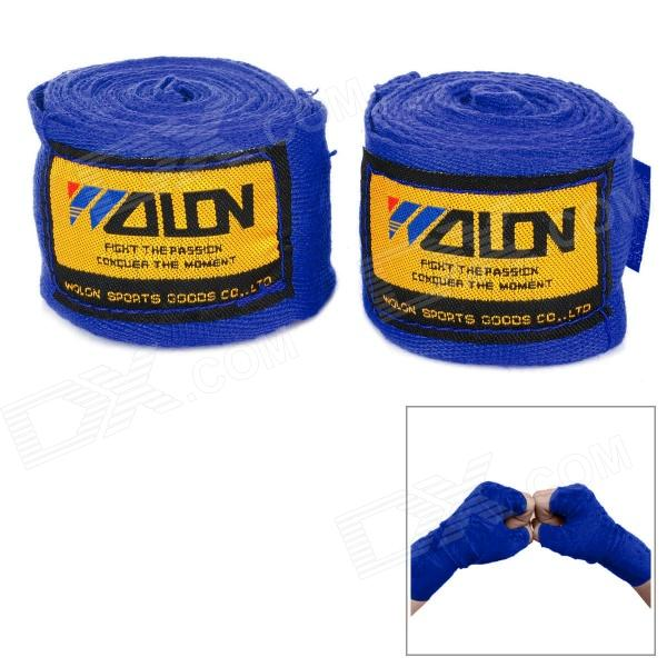 Sport Boxing / MMA Cotton Wrist Protection Hand Band - Blue + Yellow (2 PCS / 2.5m) authentic rdx inner hand wraps gloves boxing fist padded bandages mma gel thai