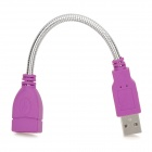 Flexible Aluminum Alloy Housing USB 2.0 Male to Female Extension Cable - Purple + Silver (18cm)