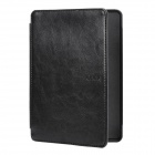 "Ultra-thin 6"" Protective PU + Plastic Flip-Open Smart Case for Amazon Kindle 4 - Black"
