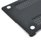Protective Plastic Matte Full Body Case for MacBook Air - Black + Grey