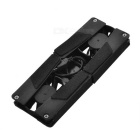 "Mini USB plegable 2.0 2-Fan Base Cooler Pad para 10 ""~ 14"" Notebook - Negro"
