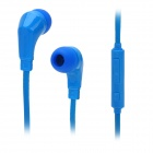 Wallytech WHF-119 3.5mm Jack In-ear Earphone w/ Microphone for Samsung / HTC - Blue