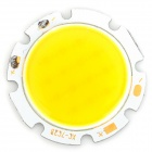 Epileds XC-7C2B 7W 630lm 3300K COB LED Warm White Light Plate - Silver + Yellow