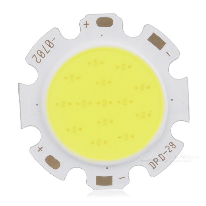 Epileds XC-7C2B 7W 630lm 6500K COB LED White Light Plate - Silver + Yellow 20w high power led ultra violet uv light chip 365nm 370nm 380nm 385nm 395 405nm 420nm 425nm diy cob light source epileds 42mil
