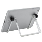 Lightweight Folding Stainless Steel Multi-Angles Stand Holder for Tablet PC - White + Silver