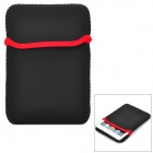 "Protective Polyester Cotton Sleeve for 7"" Tablets - Black + Red"