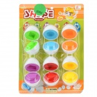 YZ583 Kids Educational juego Egg Puzzle Toy - multicolor (12 PCS / 6 pares)