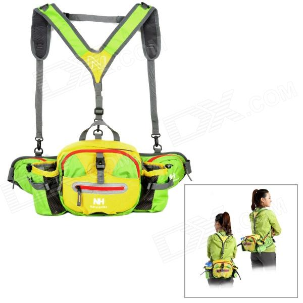 Naturehike NHYB-PR Multifunction Outdoor Sports Water-resistant Nylon Waist Bag - Green + Yellow