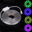 ZIYU JB01 Waterproof 18W 300-SMD 3528 LED RGB Light Strip -White (5M /2-Flat-Pin Plug / 220V)