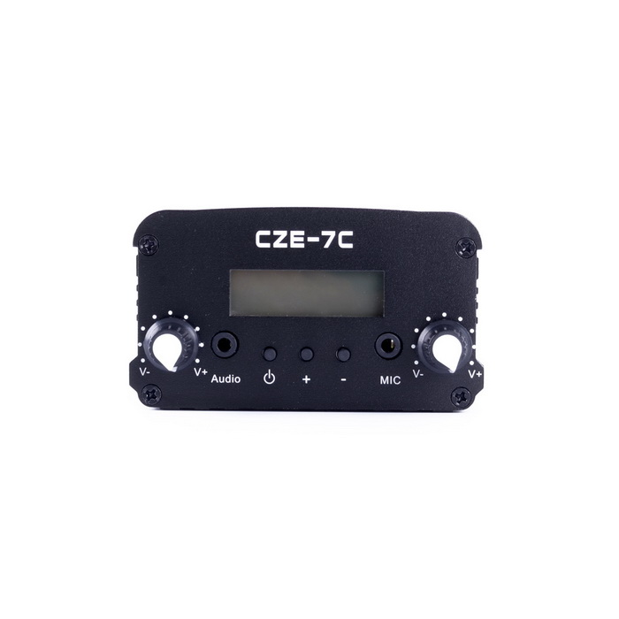 CZH-7C 7W FM Stereo PLL Frequency Modulation Transmitter - Black