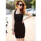 YLY-DXH719-8601 Fashion Slimming Sexy Dress - Black