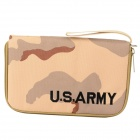 Fashion Water Resistant Handgun Pistol Pouch - Yellow + Brown