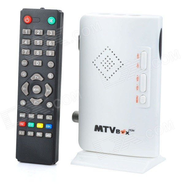 MTVBOX Digital Video Analog Television Receiver Box Supports CRT / LCD Monitor - White