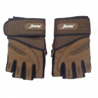 Xinluying XLY216 Professional Anti-Skid Fitness Half-Finger Gym Gloves - khaki (Size-L / Pair)
