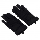 Stylish Outdoor Full-Finger Gloves - Black ( Size-M / Pair)