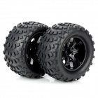88035 Rubber Tyre Set for 1/10 RC On-Road Car - Black (2 PCS)