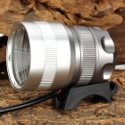 LetterFire LF-10 Cree XM-L T6 600lm 3-Mode White Zooming Bicycle Light - Silver + Grey (4 x 18650)