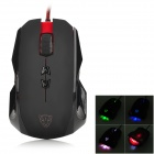 Motospeed V6 Wired USB 2.0 Optical 800 / 1250 / 1750 / 3500dpi Mouse - Black