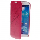Stylish Protective PU Leather Case Cover for Samsung Galaxy S4 i9500 - Deep Pink