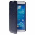 Stylish Protective PU Leather Case Cover for Samsung Galaxy S4 i9500 - Sapphire Blue