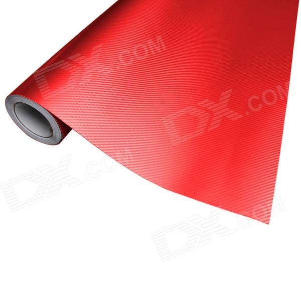 Merdia CFM001DX6 Decoration 3D PVC Carbon Fiber Film Car Wrap Sticker - Red (20cm x 12cm) 3d carbon fiber paper decoration sheet car sticker blue 200 x 30cm