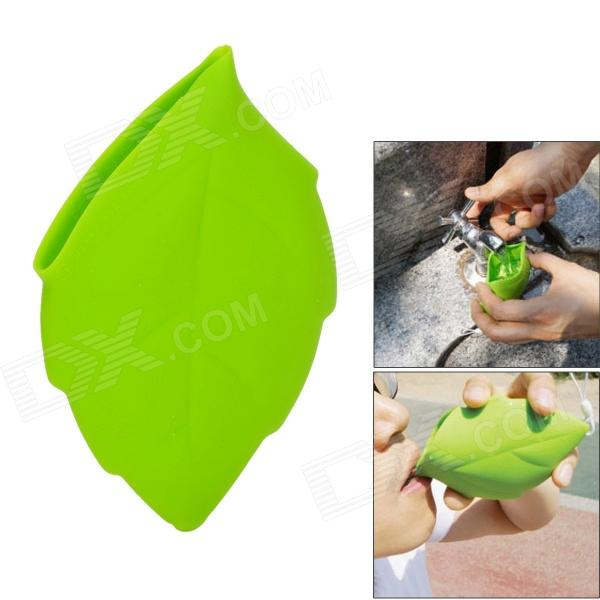 Travel Leaf Shaped Silicone Cup - GreenCups &amp; Bottles<br>ModelNForm  ColorGreenMaterialSiliconeQuantity1CapacityDiameter7Diameter7Height12.3Packing List1 x Cup<br>