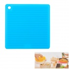 Square Shaped Silicone Anti-slip Insulation Mat / Pad - Blue