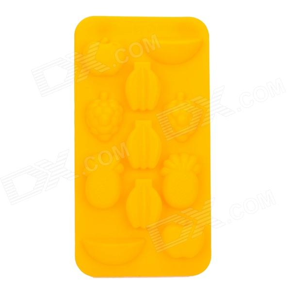 DIY Silicone 11-Cup Fruit Style Chocolates / Ice Tray Mould - Yellow diy silicone 11 cup fruit style chocolates ice tray mould yellow