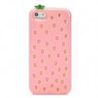 Cute Strawberry Style Protective TPU Back Case for Iphone 5 - Pink