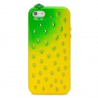 Cute Strawberry Style Protective TPU Back Case for Iphone 5 - Yellow + Green
