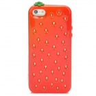 Cute Strawberry Style Protective TPU Back Case for Iphone 5 - Red