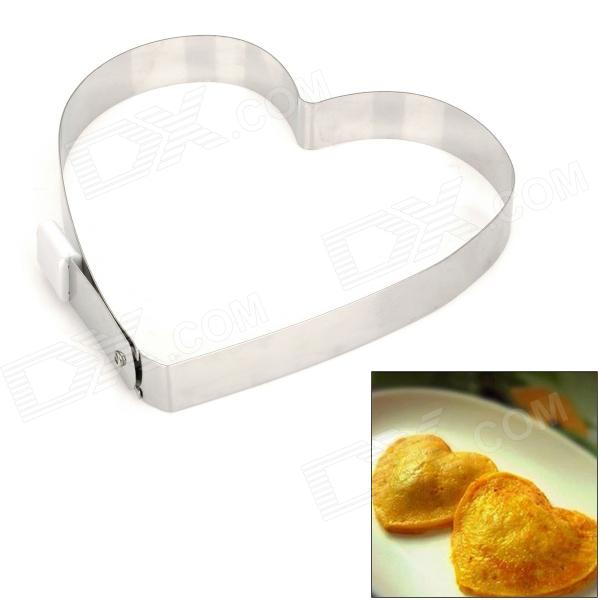 Heart Style Stainless Steel Fried Egg Holder - Silver diy stainless steel motor universal coupling silver 4 x 5mm