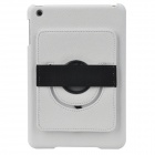 Protective PC Back Case w/ 360 Degree Rotation Hand Strap Holder for Ipad MINI - White