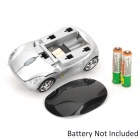 Car Model Style Wireless 2.4GHz Optical 1000dpi Mouse - Silver + Black (2 x AAA)