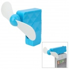 Creative 30-Pin Connector Mini 2-Blade Cooling Fan for iPhone 3G / 3GS / 4 / 4S - Blue