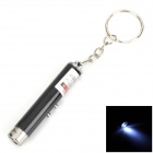 ZJ-03 2-in-1 Aluminum Alloy 5mW 650nm Red Laser LED White Light w/ Keychain - Black (3 x AG3)