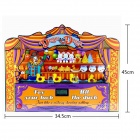 "SLW-8095 2.5"" LED Screen Carnival Duck Home Shooting Game Set w/ Music / Authentic Sounds - Red"