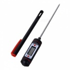 "Digital 0.9"" LCD High Temperature Food Thermometer - Black + Red + Silver (1 x 357A)"