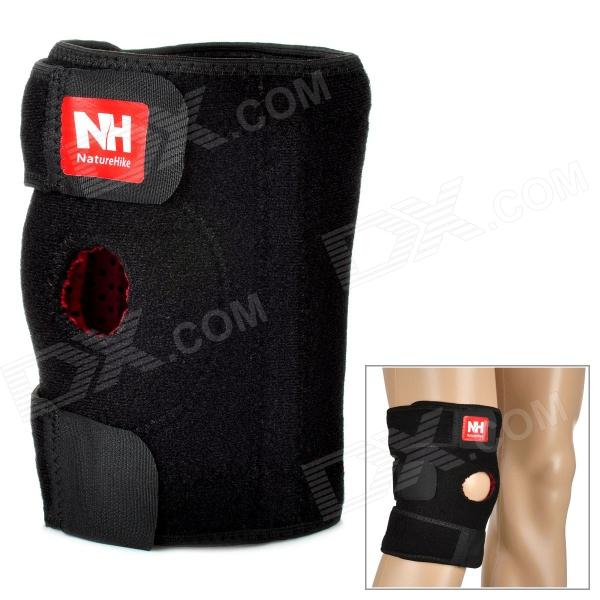 Naturehike-NH Sport Elastic Right Knee Support Pad Protector - Black (Size M) kaiwei 0602 elastic wrist brace support protector black
