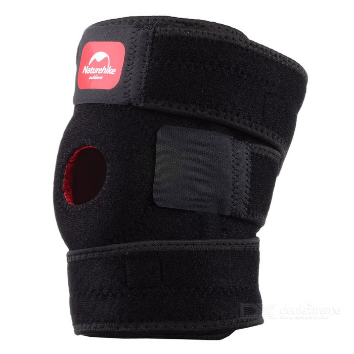 Naturehike-NH Outdoor Sport Elastic Left Knee Support Pad Protector - Black (Size L)