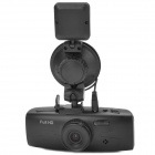 "GS600 2.7"" TFT LCD 5.0MP CMOS Wide Angle Car DVR Camcorder w/ External GPS Antenna / 2-LED - Black"