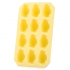 Silicone Penguin Shaped Ice Cubes Tray Maker DIY Mould - Yellow