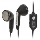 OVLENG OV-L23MV Stylish Computer Earbuds w/ In-Ear Caps / Microphone - Black (3.5mm Plug / 2m)