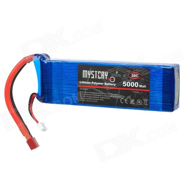 MYSTERY 2679 7.4V 5000mAh Lithium Polymer Battery for R/C Helicopter + More - Blue + Red + Black lp2200 3s 20 11 1v 2200mah lithium polymer battery for r c helicopter black