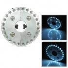 Multifunktions-Outdoor-Camping 30lm 24 + 4 LED 3-Mode Lampe - Silber (4 x AA)