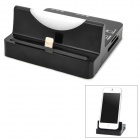 Dual USB SD/MMC / Micro SD / M2 / MS Card Reader + 8pin Lightning Charging Dock for iPhone 5 - Black