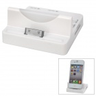 Dual USB SD/MMC / Micro SD / M2 / MS Card Reader + Apple 30pin Charging Dock for iPhone 4 - White